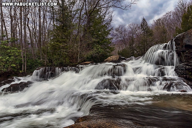 The Upper Cascades on Meadow Run at Ohiopyle State Park.