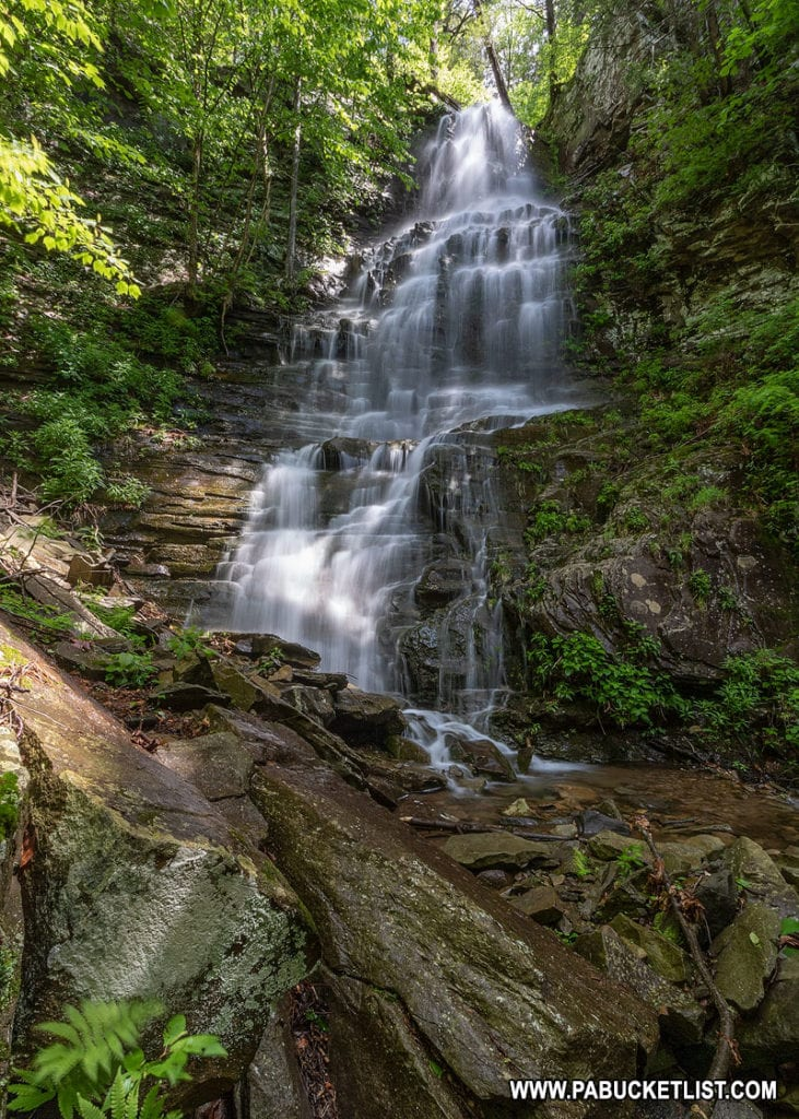 Angel Falls in Pennsylvania's Loyalsock State Forest.