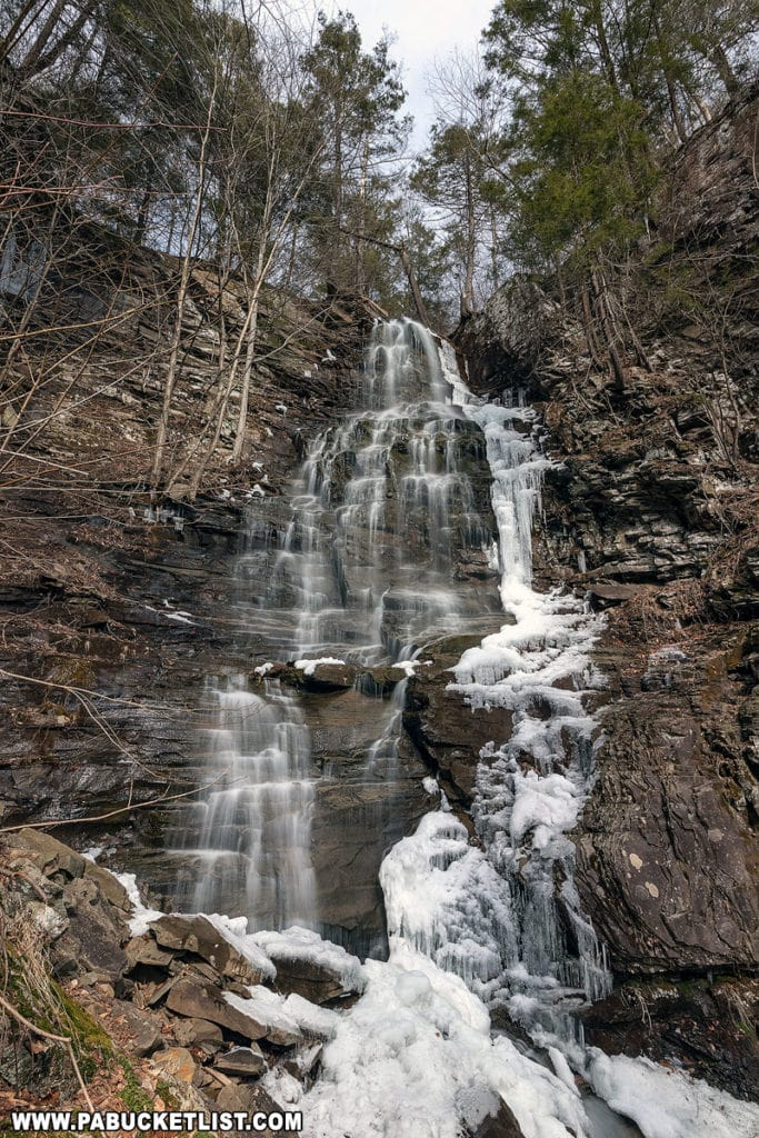 Angel Falls on Falls Run in Sullivan County, Pennsylvania.
