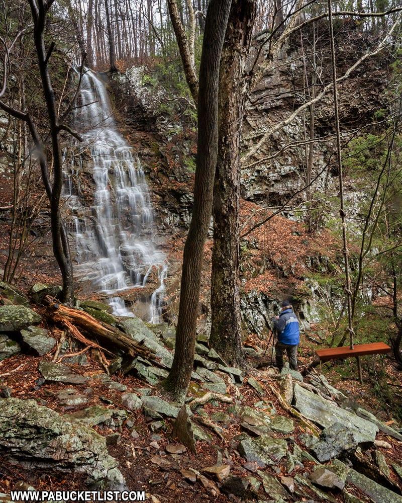 Angel Falls in Sullivan County, PA.