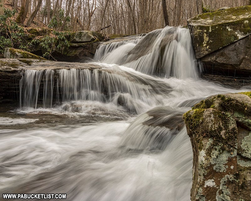 Cascades on Bruner Run at Ohiopyle State Park.