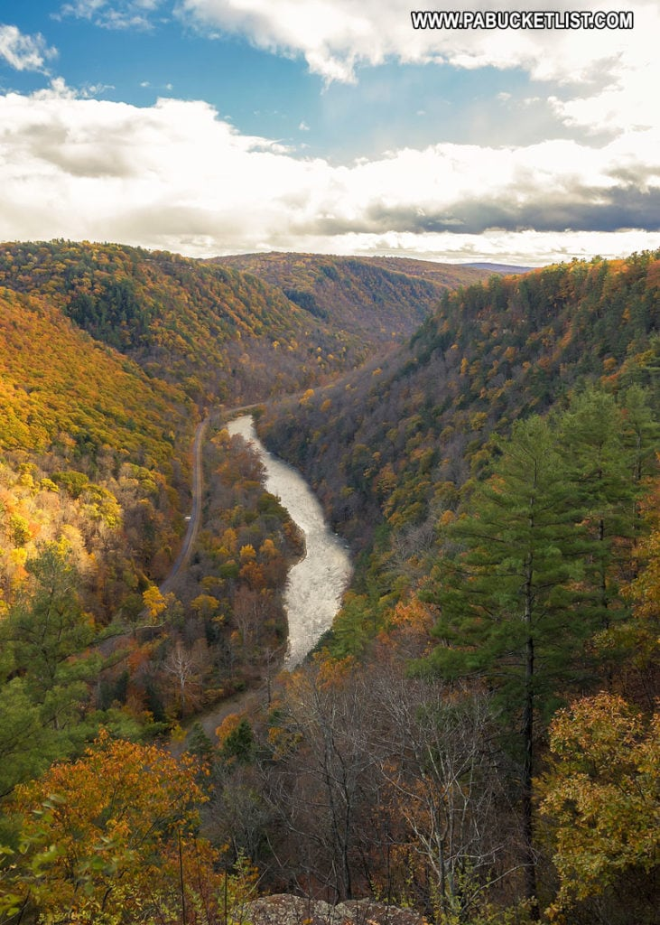 The view of the PA Grand Canyon from Colton Point State Park