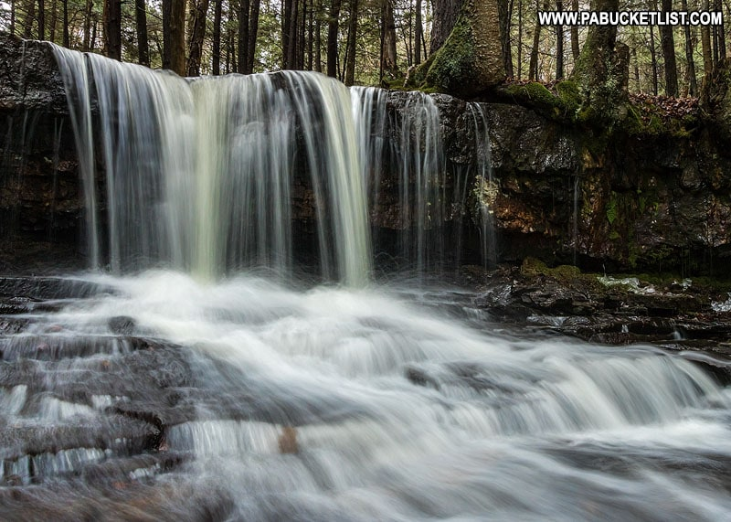 The upper tier of Dutchman Falls in the Loyalsock State Forest