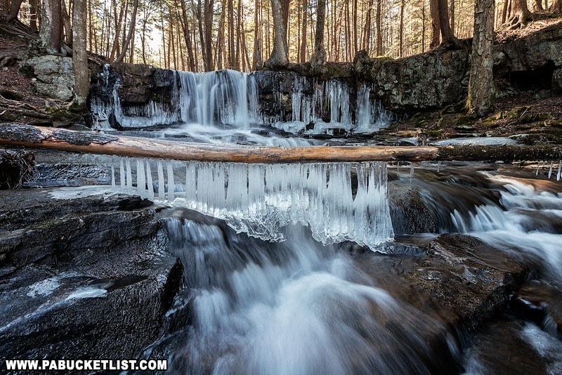 The upper tier of Dutchman Falls in Sullivan County.