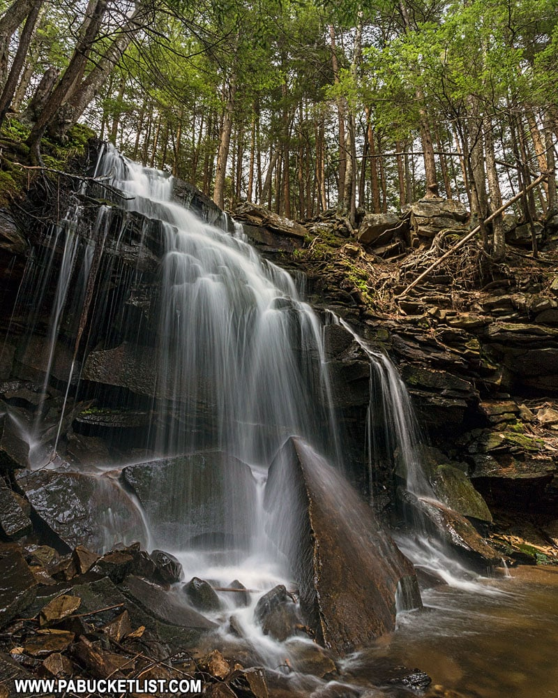 Dutchman Falls on a summer day in Sullivan County.