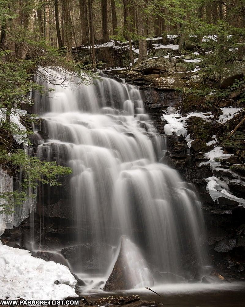 Dutchman Falls in the winter.
