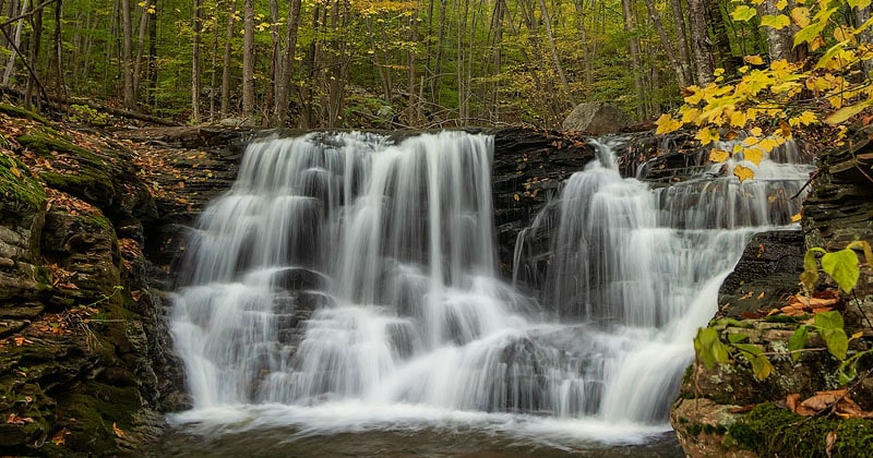 First Falls on Miners Run in Lycoming County, Pennsylvania