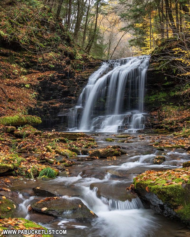 Fourmile Run Falls on an autumn afternoon.