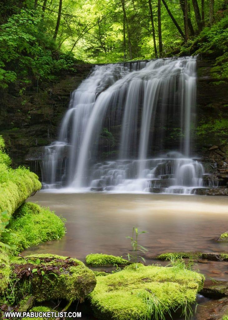Fourmile Run Falls on a summer afternoon.