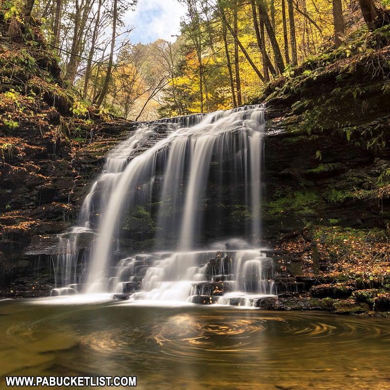 Fourmile Run Falls in late October.