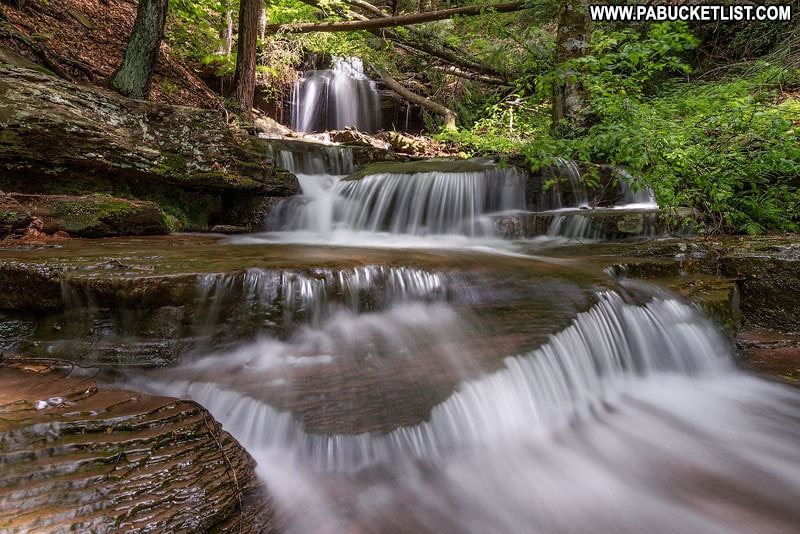 Approaching Gipson Falls in the Loyalsock State Forest.