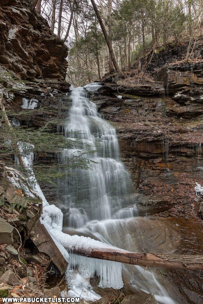 Gipson Falls in Sullivan County, PA.