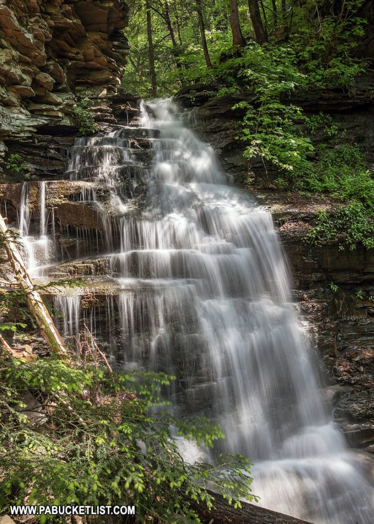 A summer afternoon at Gipson Falls in the Loyalsock State Forest.
