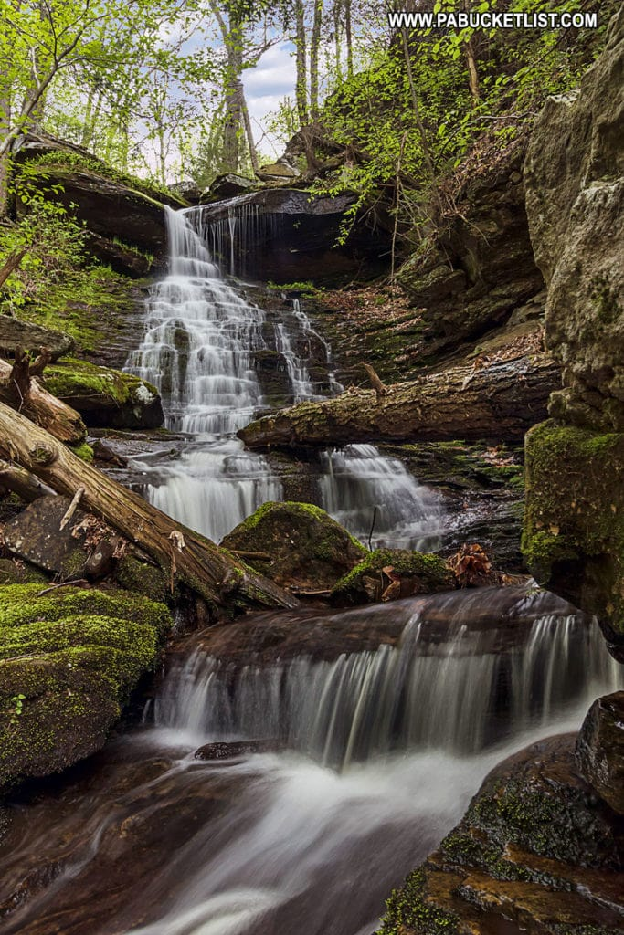 High Rock Falls along the High Rock Trail at Worlds End State Park.