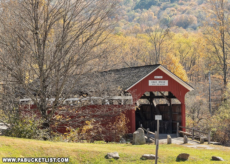 Autumn in the Laurel Highlands at Kings Covered Bridge.