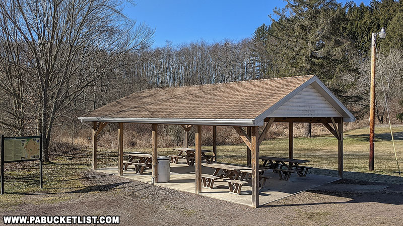 The picnic pavilion at Kings Covered Bridge in Somerset County.