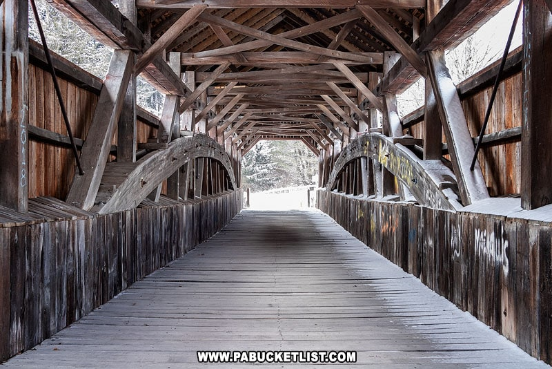 Trusswork at Kings Covered Bridge in Somerset County.