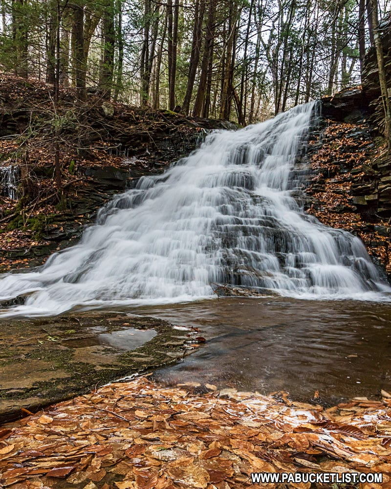 Upper Middle Branch Falls on Mill Creek near Hillsgrove, PA