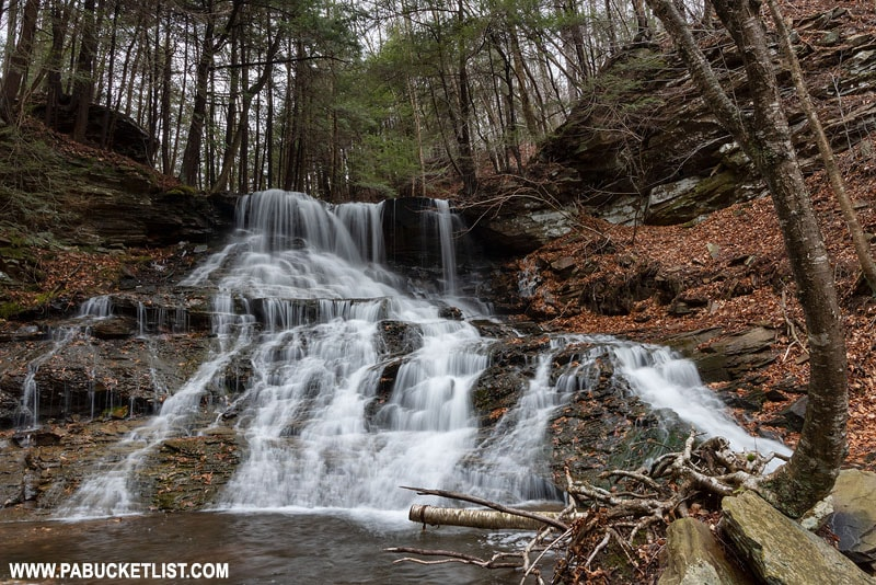 Middle Branch Falls on Mill Creek in Sullivan County, Pennsylvania.
