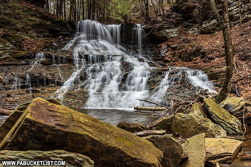 Middle Branch Falls on Mill Creek in the Loyalsock State Forest.