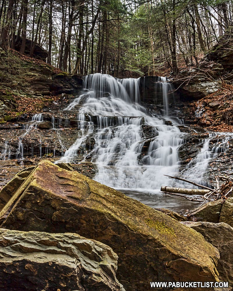 Middle Branch Falls on Mill Creek in Sullivan County