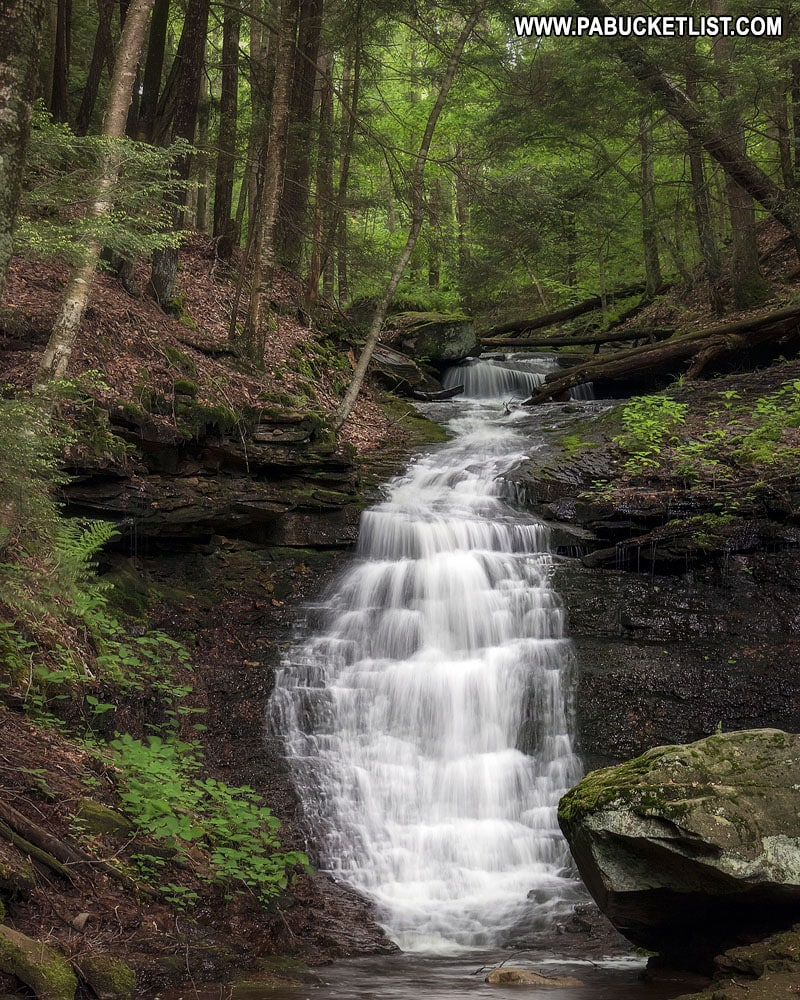 Mineral Spring Falls near Worlds End State Park