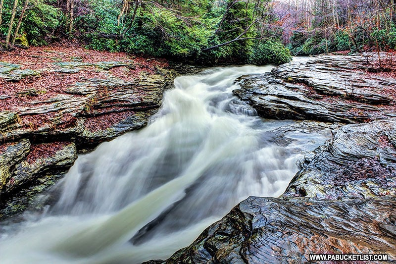 Long exposure from the Natural Water Slides at Ohiopyle State Park.