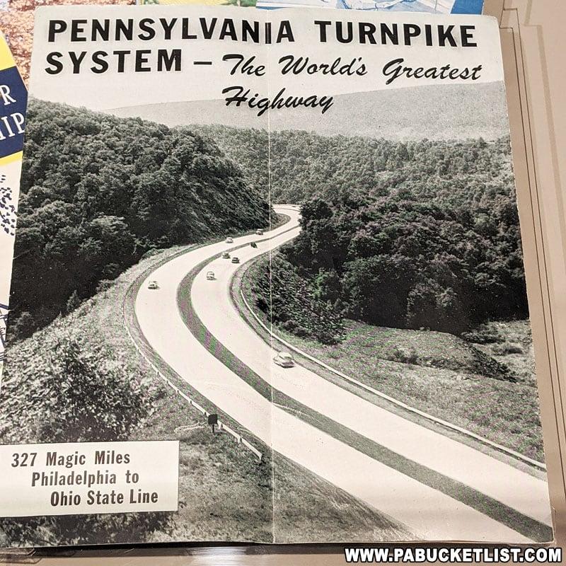 Souvenir brochure for the Pennsylvania Turnpike.