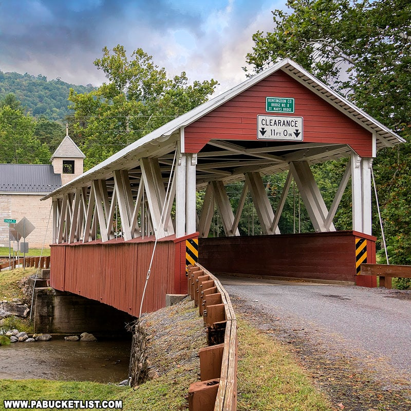 Saint Mary's Covered Bridge in Huntingdon County, PA