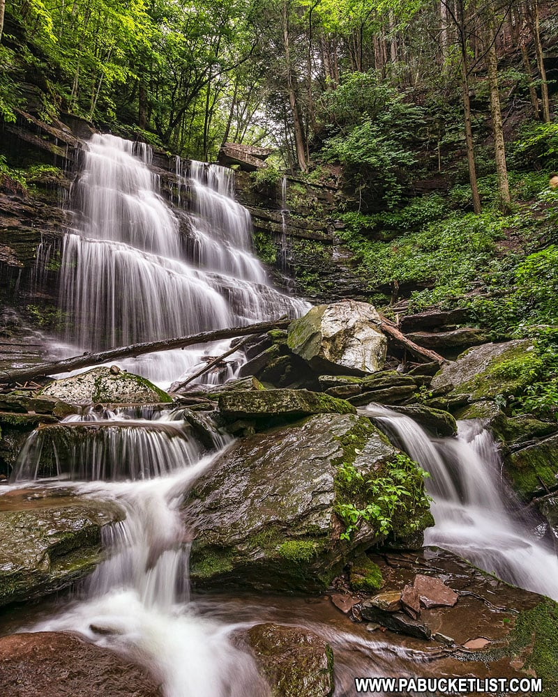 Waterfalls along the Turkey Path in Tioga County.