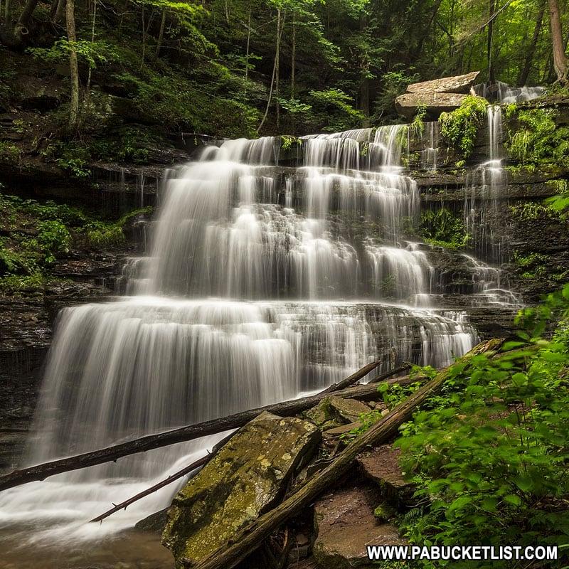 Waterfall along the Turkey Path near Wellsboro.