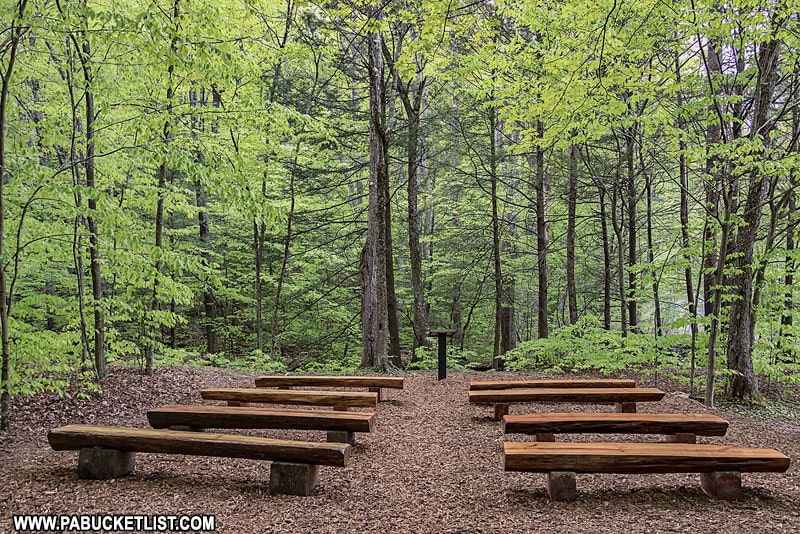 The Chapel at Worlds End State Park along the Double Run Trail.
