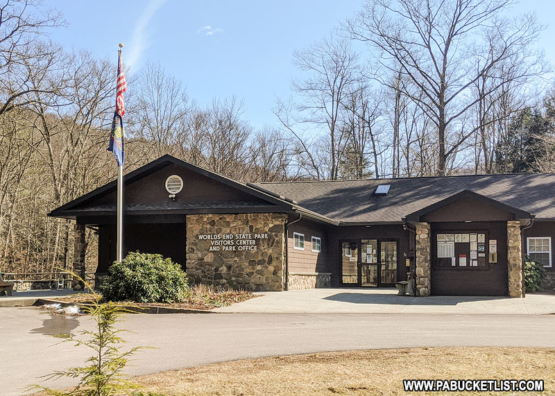 The Park Office at Worlds End State Park.