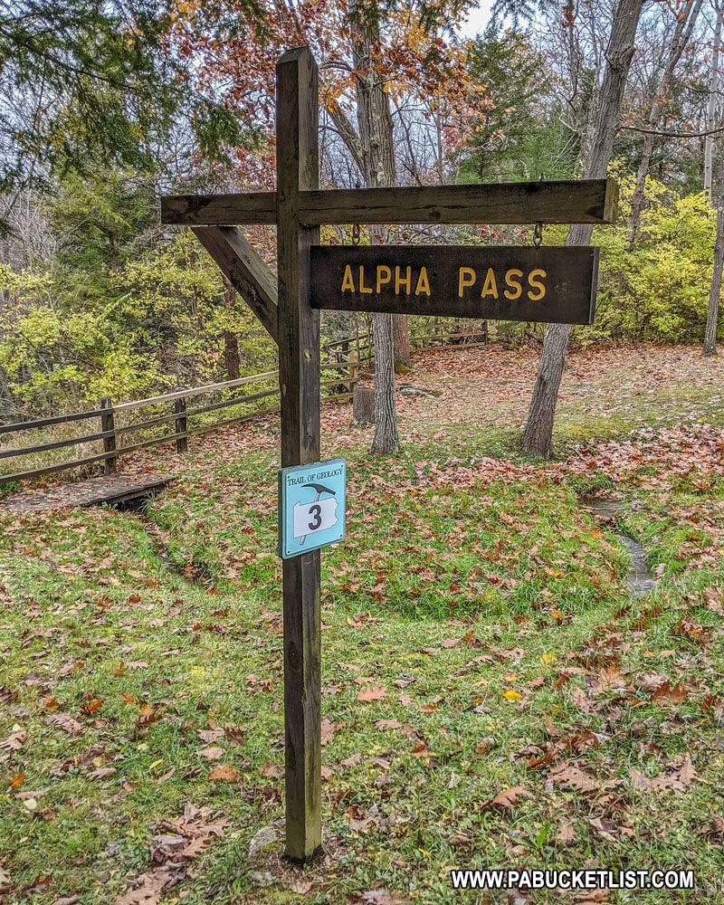 Alpha Pass at McConnells Mill State Park