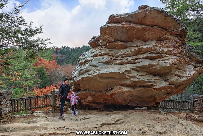 Balanced Rock at Trough Creek State Park in Huntingdon County Pennsylvania