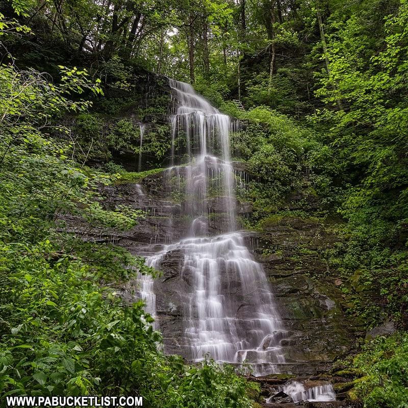 Burdic Run Falls off the Seimons Trail in Tioga County.