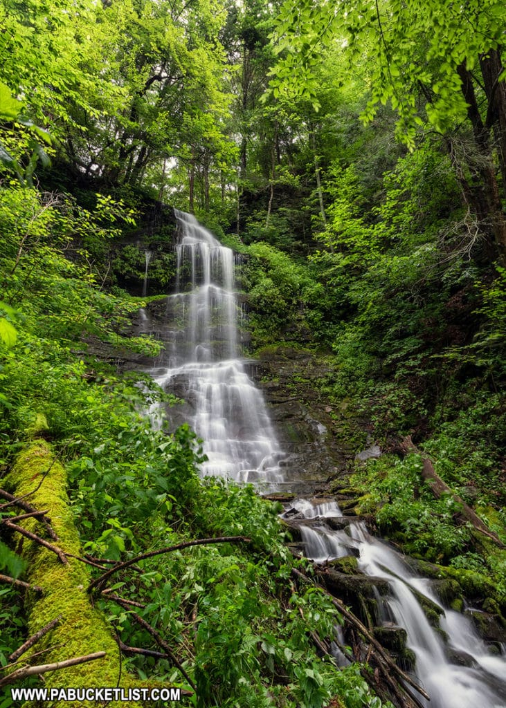 Side view of Burdic Run Falls Pennsylvania