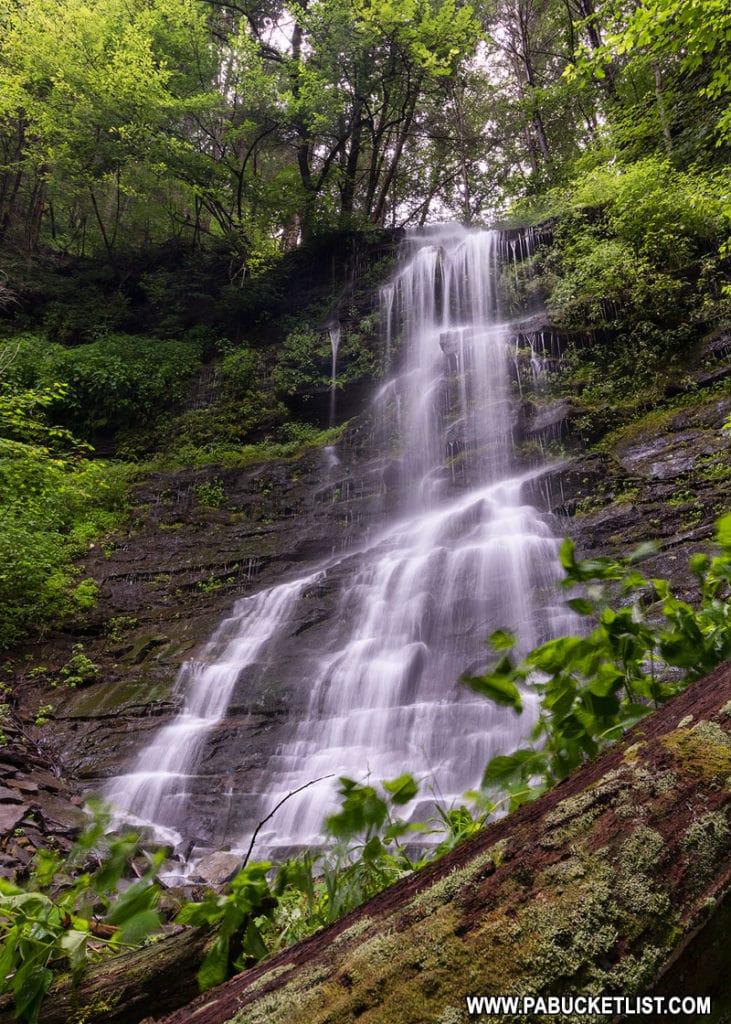Burdic Run Falls in the Pine Creek Gorge Pennsylvania