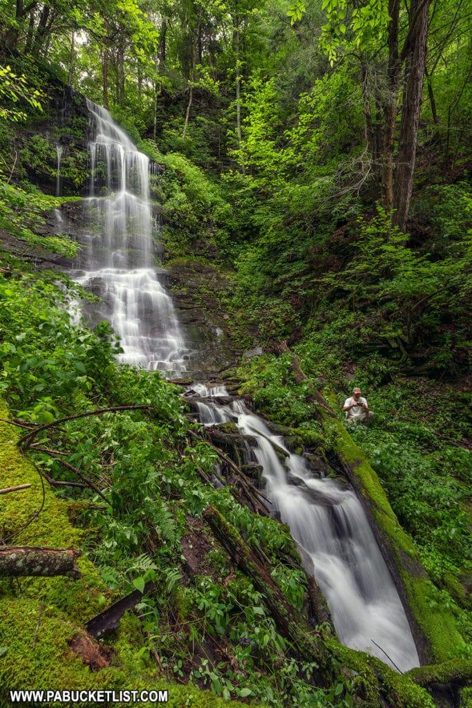 Burdic Run Falls in Tioga County Pennsylvania