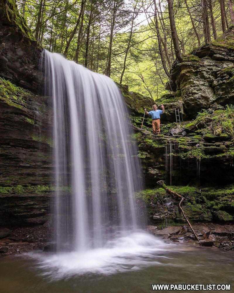 Campbells Run Falls near Tiadaghton PA