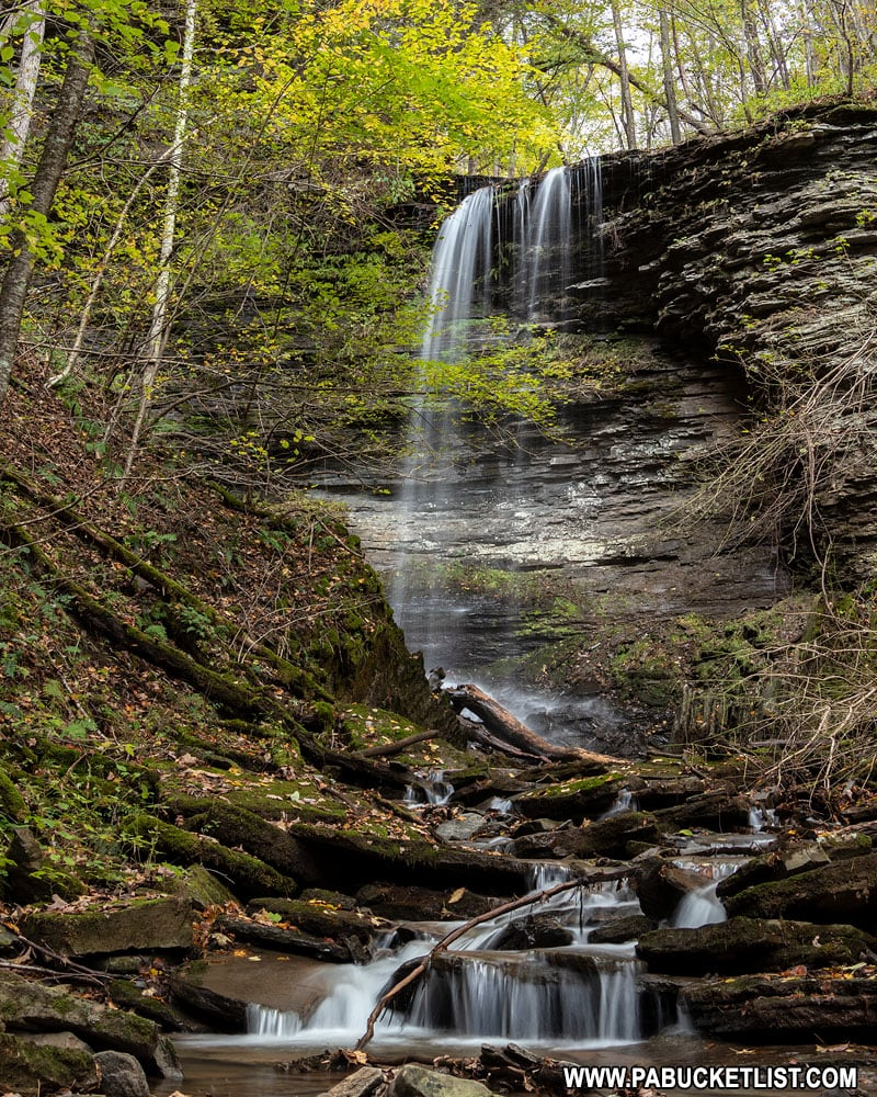 Waterfall on an unnamed tributary of Campbells Run in the Pennsylvania Grand Canyon