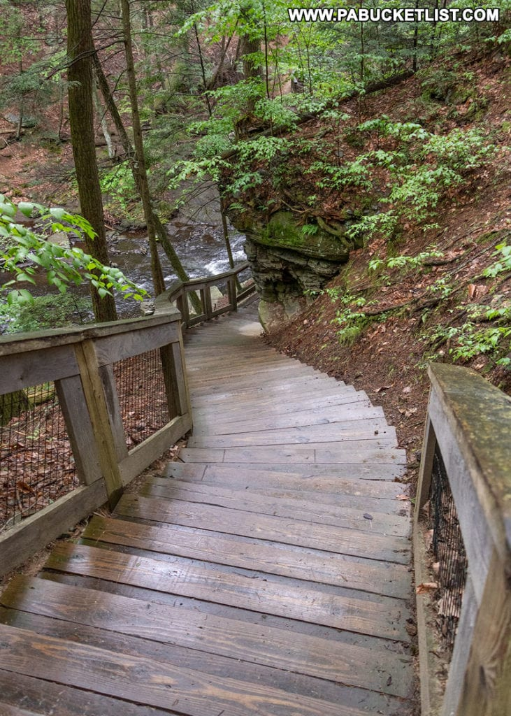 The Childs Park Trail in the Delaware Water Gap Pike County Pennsylvania