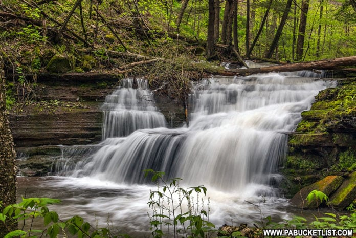 Darling Run Falls in Tioga County Pennsylvania
