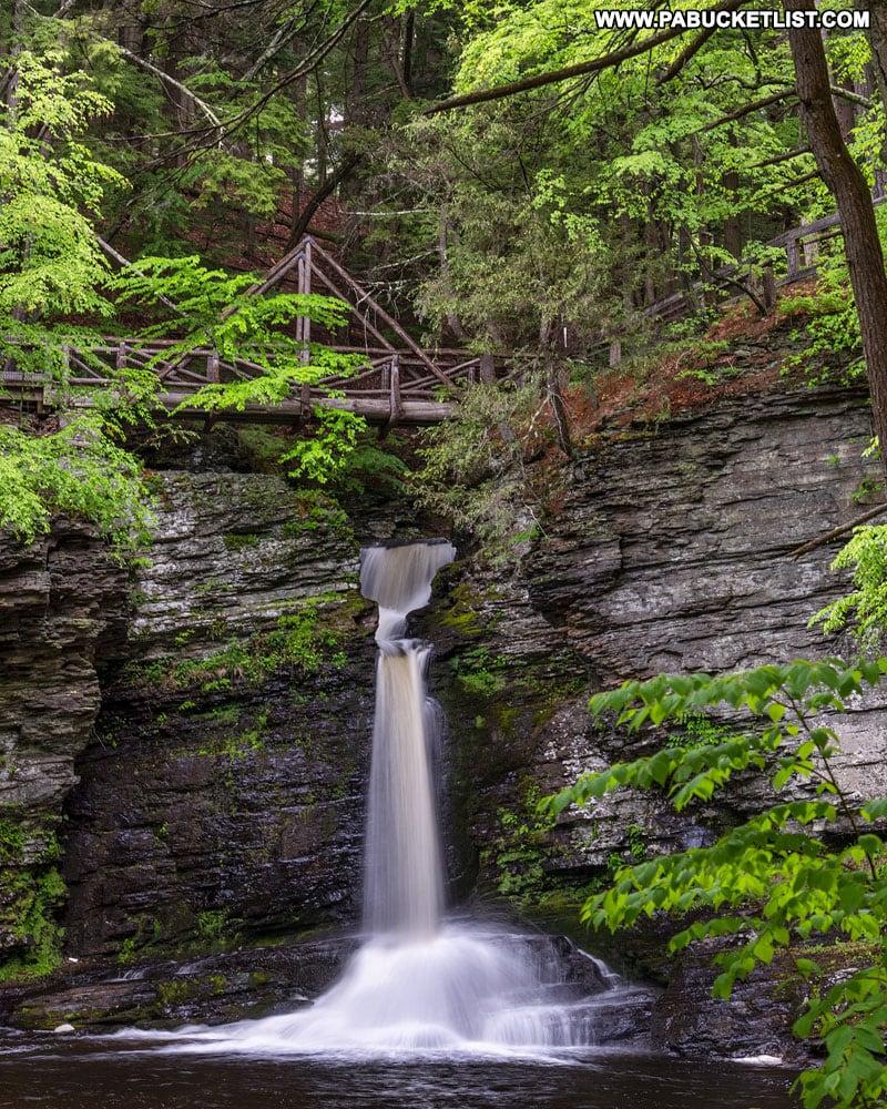 Deer Leap Falls in Pike County, Pennsylvania