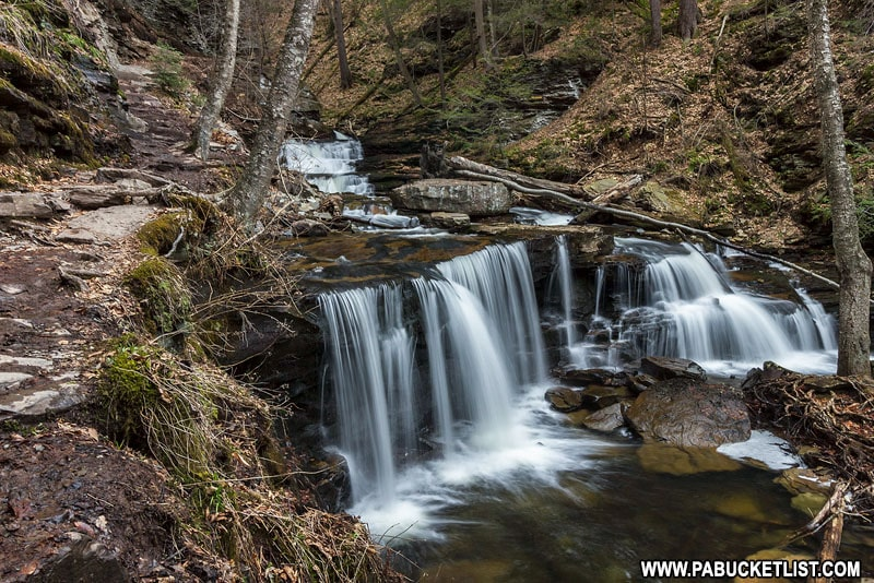 Delaware Falls at Ricketts Glen State Park.