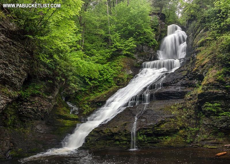 Dingmans Falls in eastern Pennsylvania.