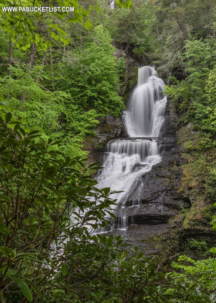 Dingmans Falls in the Poconos region of Pennsylvania.