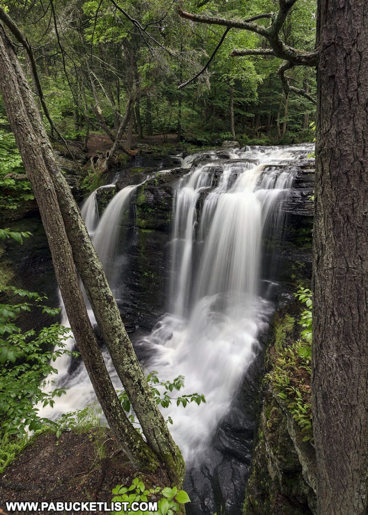 Fulmer Falls at Childs Park in Pike County Pennsylvania