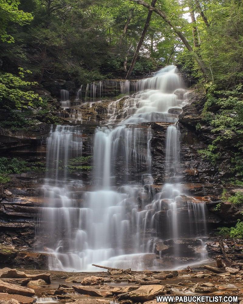Ganoga Falls at Ricketts Glen State Park in Pennsylvania.
