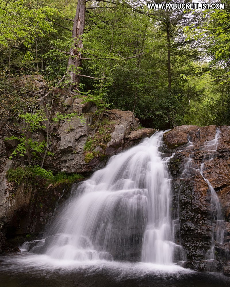 Hawk Falls at Hickory Run State Park in Pennsylvania